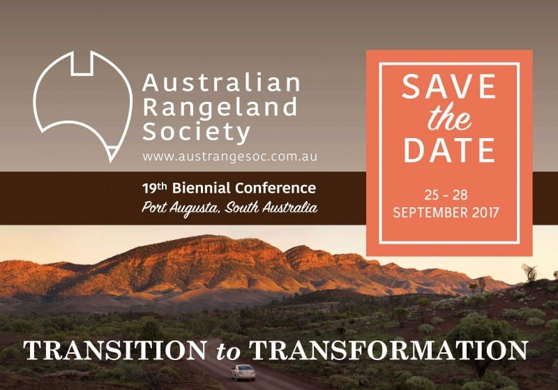 19TH BIENNIAL CONFERENCE OF THE AUSTRALIAN RANGELAND SOCIETY