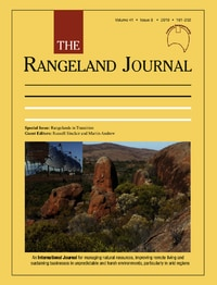 ACCESSING THE RANGELAND JOURNAL ON-LINE